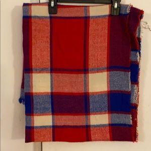 Accessories - Plaid rectangular blanket scarf. 70X30